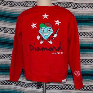 Diamond Supply Co. Red Sweatshirt XL